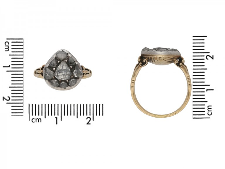 Georgian diamond cluster ring berganza hatton garden