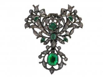 Georgian emerald diamond suite, berganza hatton garden