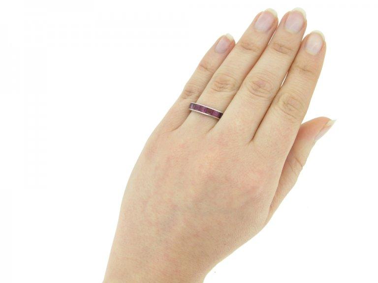 vintage Ruby eternity ring berganza hatton garden
