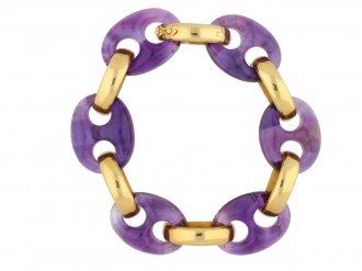 front Vintage amethyst bracelet Garrard berganza hatton garden