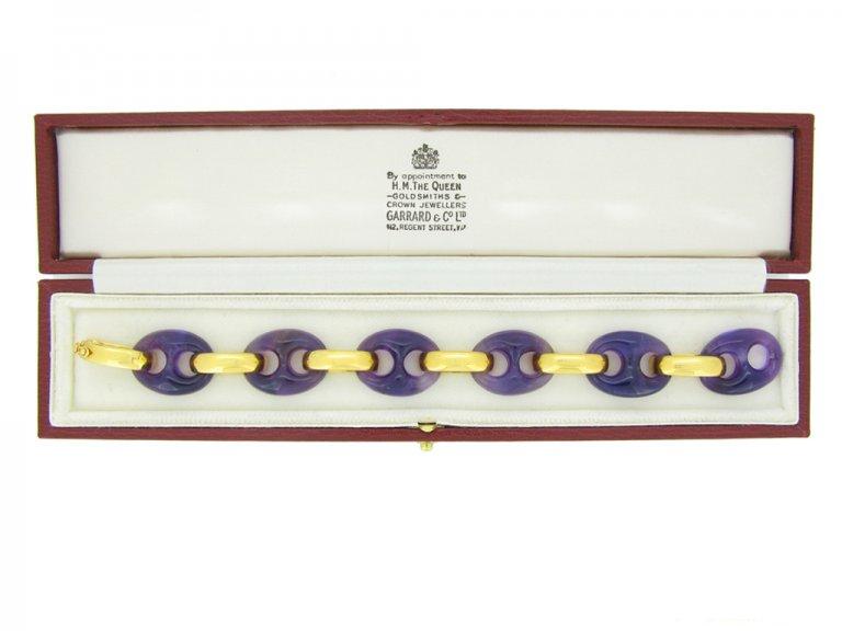 Vintage amethyst bracelet Garrard berganza hatton garden