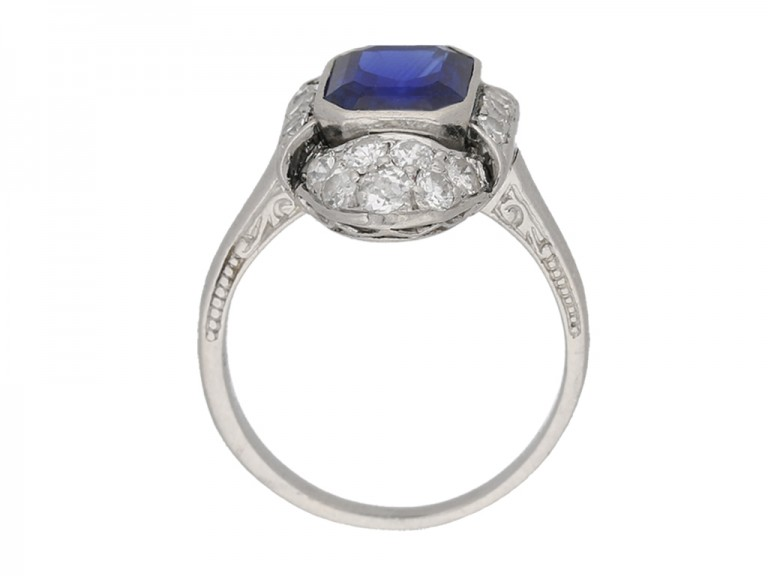 art deco diamond sapphire ring berganza hatton garden