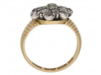 Georgian diamond button cluster ring berganza hatton garden