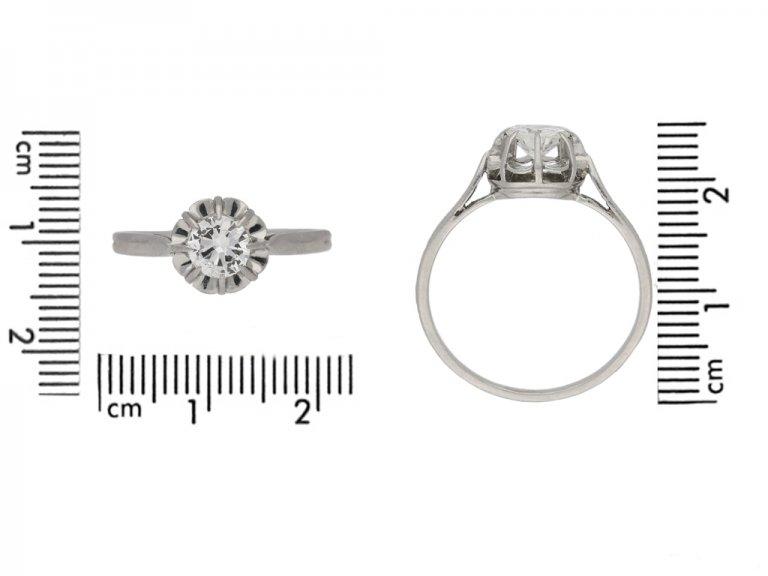 size view vintage diamond solitaire ring berganza hatton garden