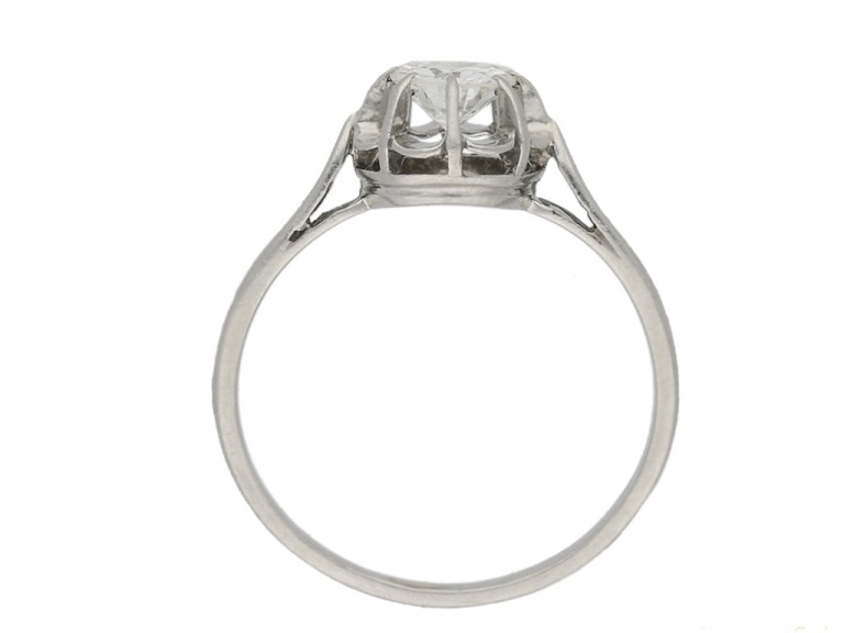 back view vintage diamond solitaire ring berganza hatton garden