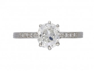 front antique diamond engagement ring berganza hatton garden
