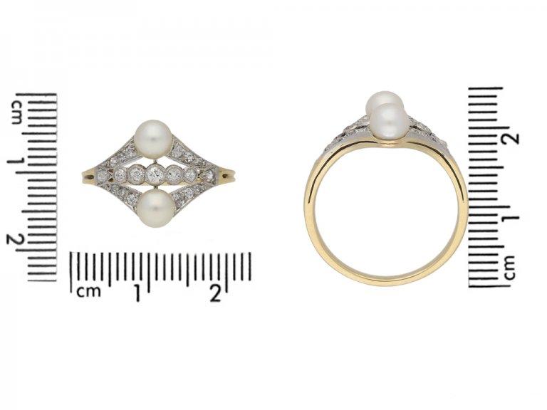 size view antique pearl diamond ring berganza hatton garden