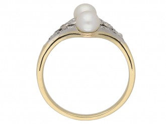 back view antique pearl diamond ring berganza hatton garden
