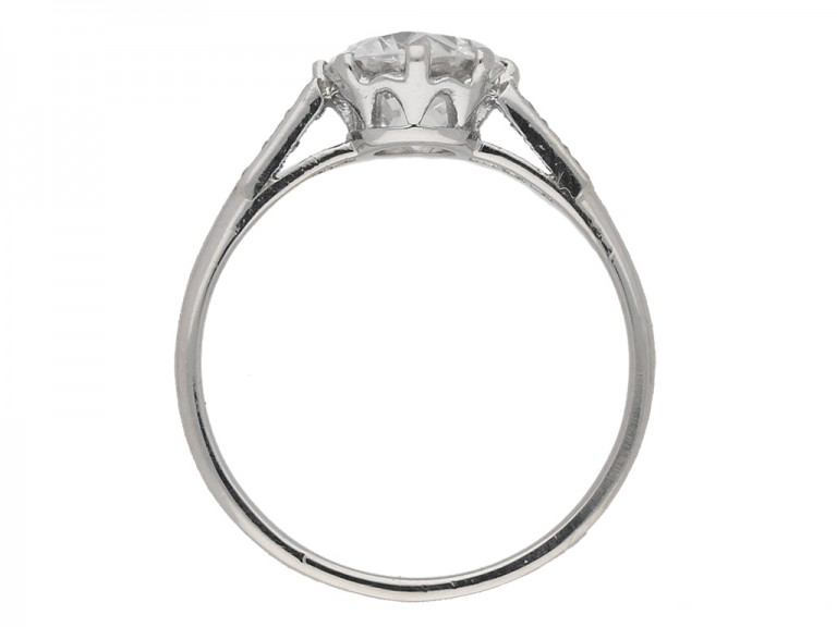back view Antique diamond engagement ring berganza hatton garden