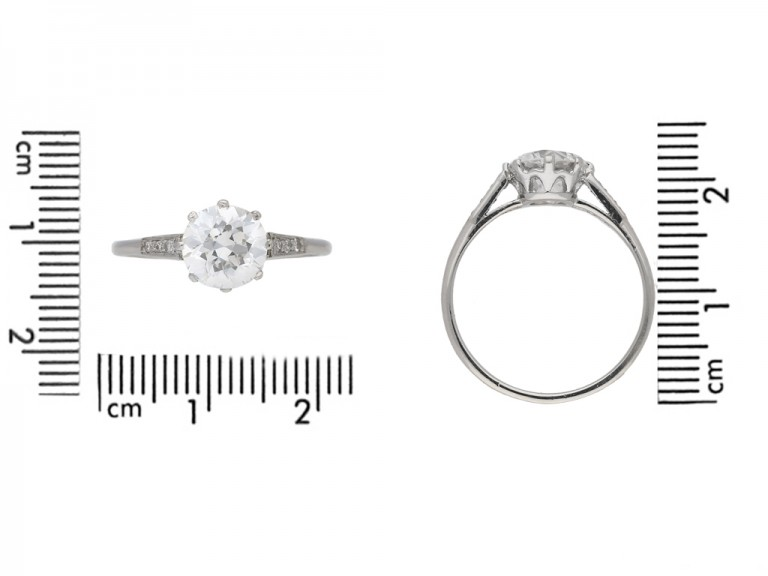size view Antique diamond engag