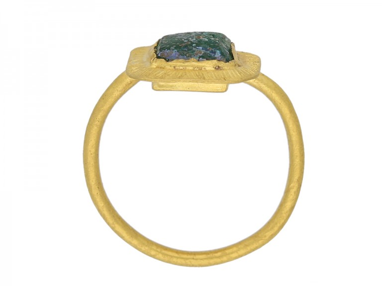 Ancient volcanic glass Roman ring berganza hatton garden
