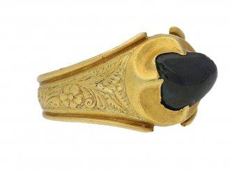 Medieval Duchess Lancaster sapphire ring berganza hatton garden