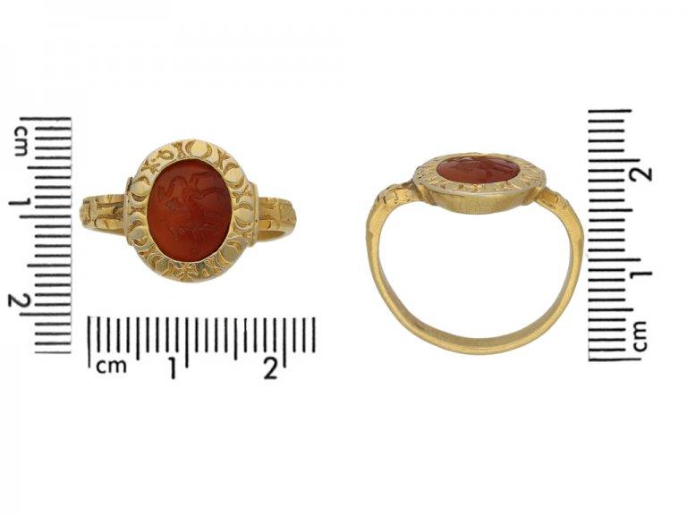 Medieval lion entaglio ring, berganza hatton garden