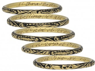 w Enamel skeleton ring for Sir Francis Gosling berganza hatton garden