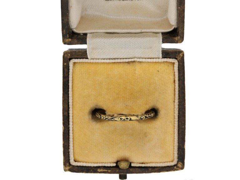 w Enamel skeleton ring for Sir Francis Gosling berganza hatton garden