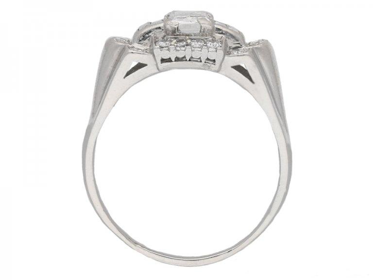back view vintage Granat diamond ring berganza hatton garden