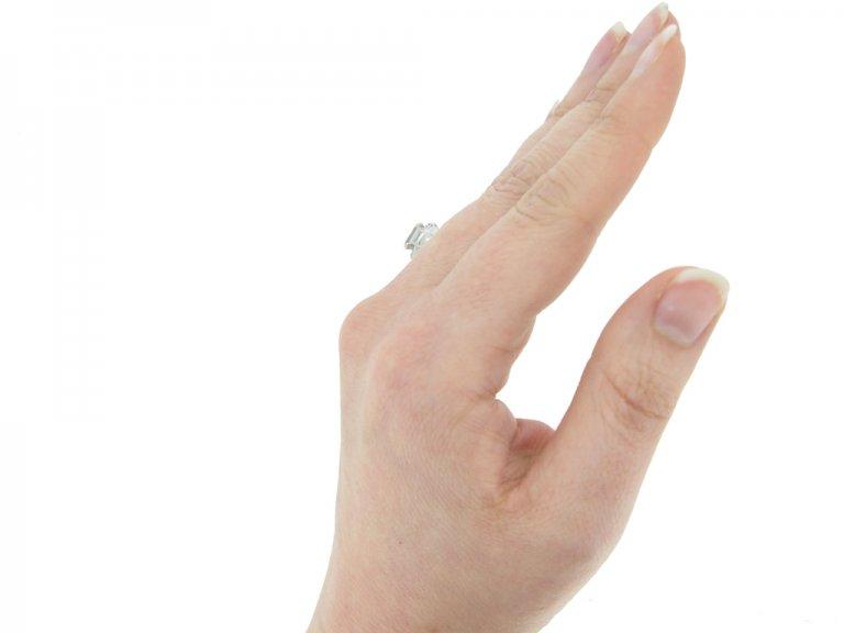 hand view vintage Granat diamond ring berganza hatton garden