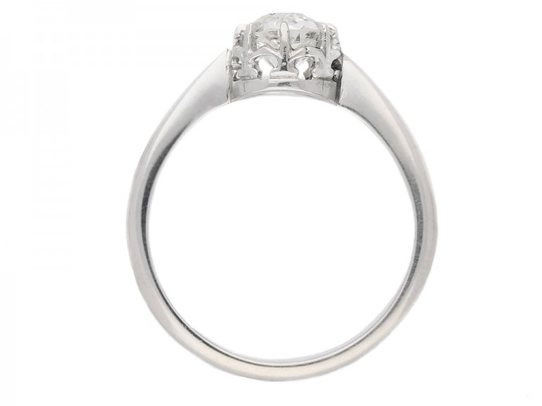 back view antique diamond solitaire ring berganza hatton garden