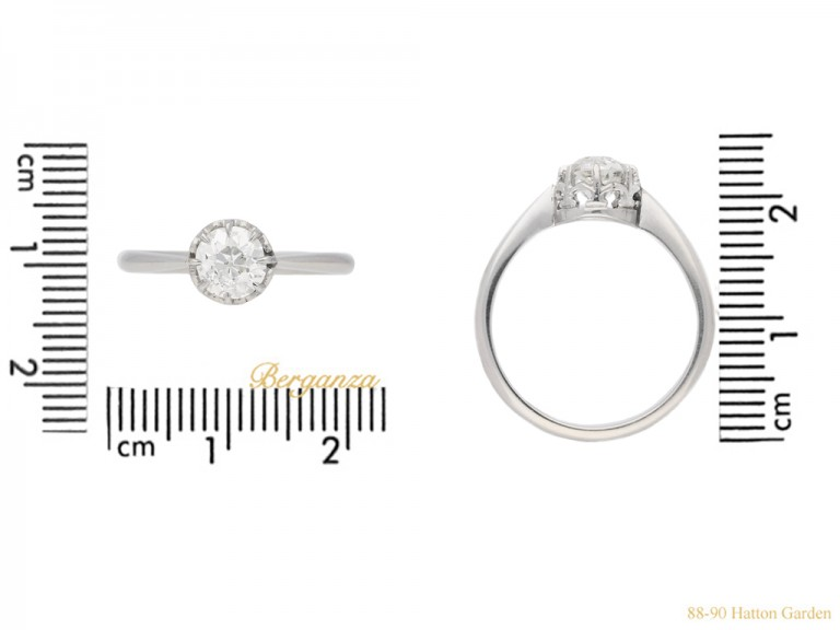 size view antique diamond solitaire ring berganza hatton garden
