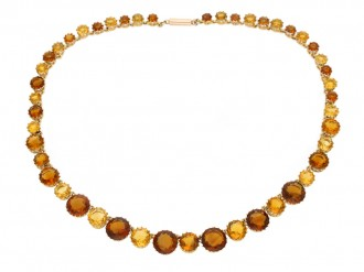 Victorian citrine riviere necklace berganza hatton garden