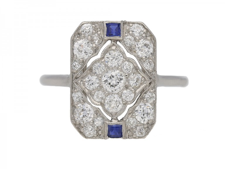 vintage sapphire diamond Cartier ring hatton garden berganza