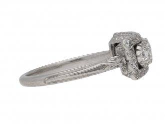 antique diamond 3 row ring hatton garden berganza