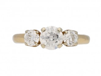 Vintage diamond three stone ring berganza hatton garden