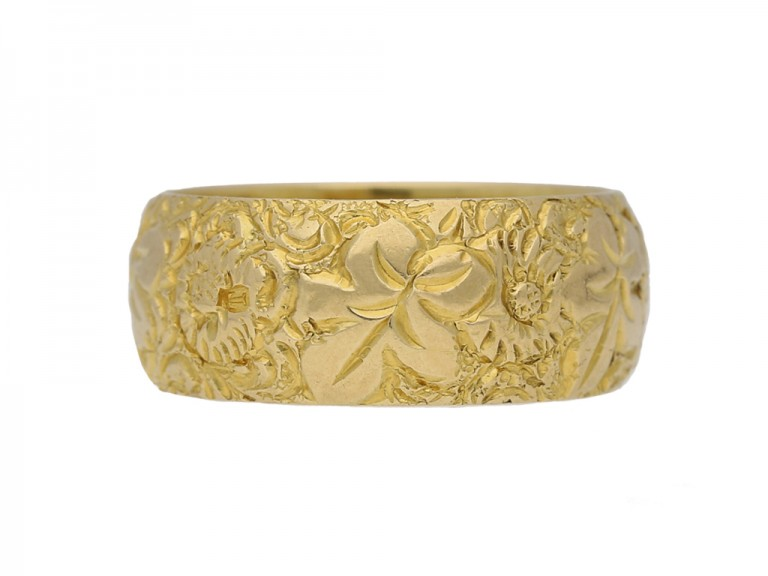 Victorian carved wedding ring berganza hatton garden