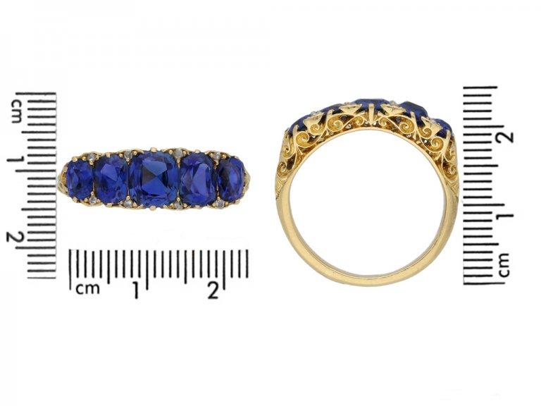 Victorian sapphire antique ring berganza hatton garden