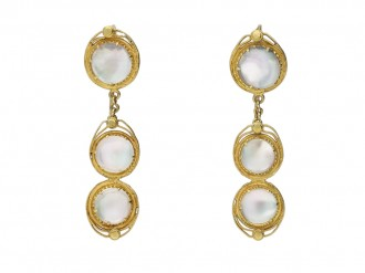 Victorian moonstone earrings necklace berganza hatton garden