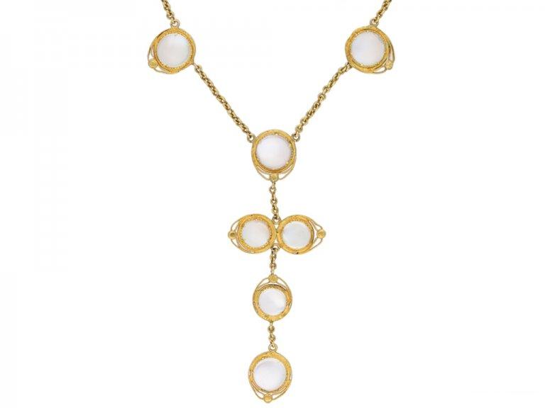 Victorian moonstone earrings necklace berganza hatton garden