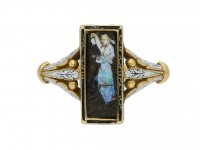 Carved opal ring Wilhelm Schmidt Guiliano berganza hatton garden
