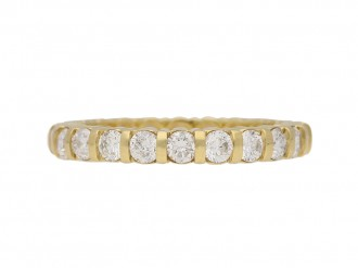 Diamond eternity ring yellow gold berganza hatton garden