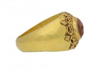 Ancient Roman gold ring intaglio berganza hatton garden