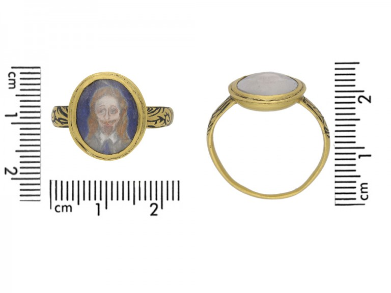 Charles I memorial skull ring English berganza hatton garden