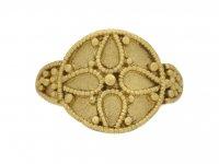 Ancient Saxon ornate gold ring berganza hatton garden