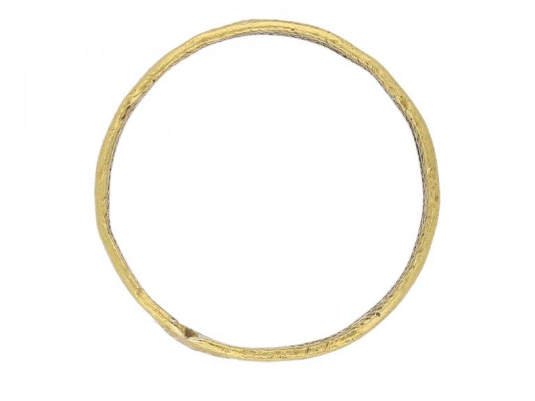 Anglo Saxon gold herringbone ring berganza hatton garden
