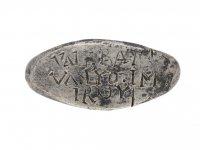 Ancient Roman inscribed silver ring berganza hatton garden