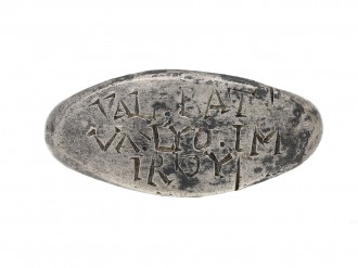 Ancient Roman inscribed silver ring berganza hatton garden