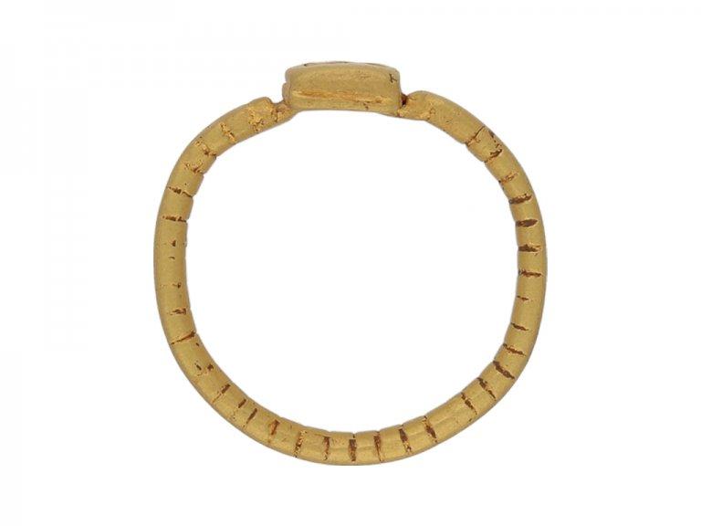 Ancient Roman gold military ring berganza hatton garden