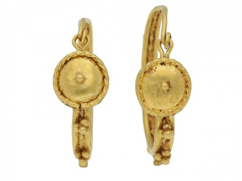 Ancient Roman gold hoop earrings berganza hatton garden