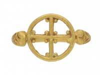 Byzantine gold ring  with cross berganza hatton garden