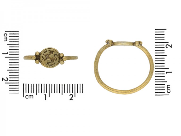 Medieval gold ring griffin berganza hatton garden