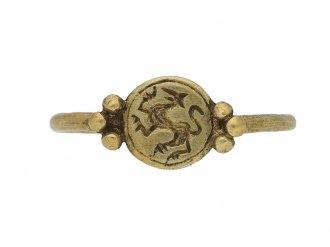 Medieval gold ring griffin berganza hatton garden