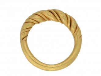 Viking gold twisted wirework ring berganza hatton garden