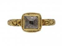 Tudor table cut diamond ring berganza hatton garden