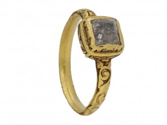 Tudor table cut diamond ring berganza hatton garden