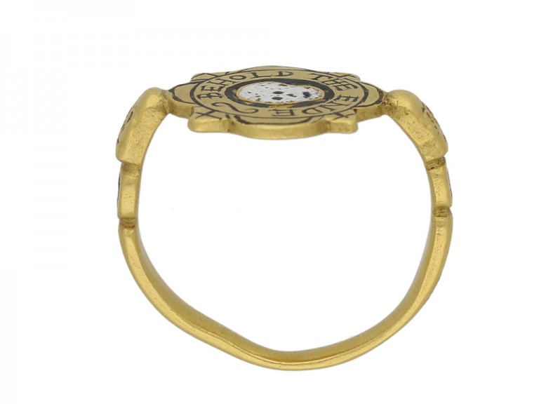 tudor skull enamelled ring hatton garden berganza