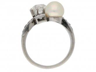 Pearl diamond antique ring berganza hatton garden