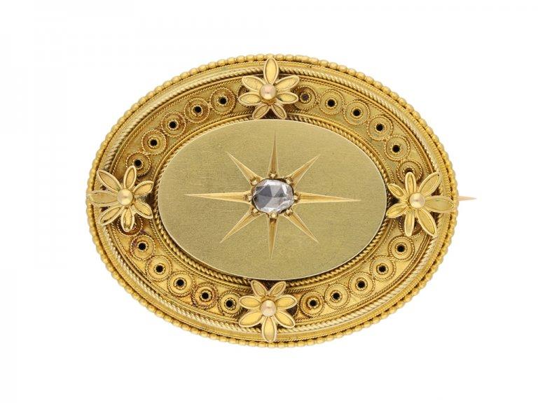 antique Victorian diamond brooch berganza hatton garden